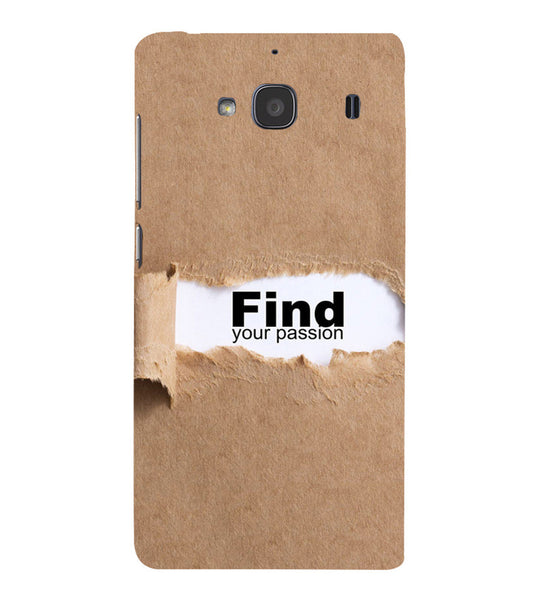 EPICCASE Find yoursefl Back Case Cover for Xiaomi Redmi 2s