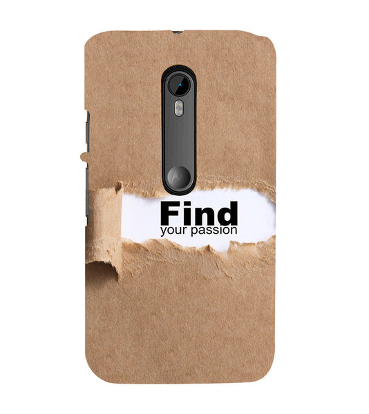 EPICCASE Find yoursefl Back Case Cover for Moto X Play
