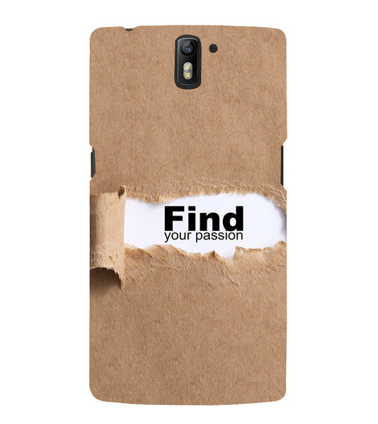 EPICCASE Find yoursefl Back Case Cover for Oneplus One