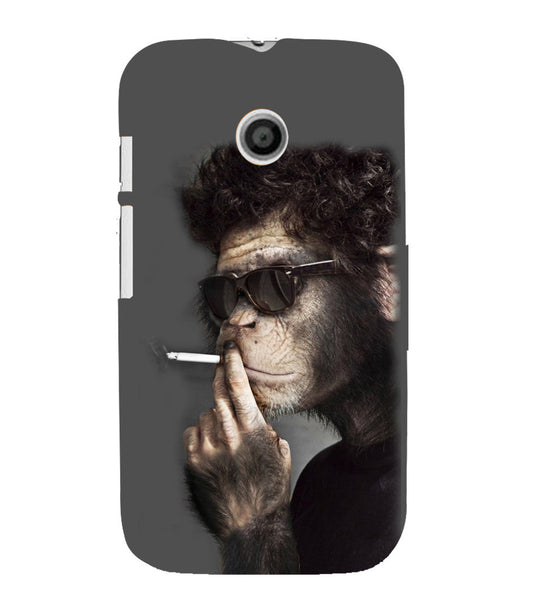 EPICCASE Smoking monkey swag Back Case Cover for Moto E