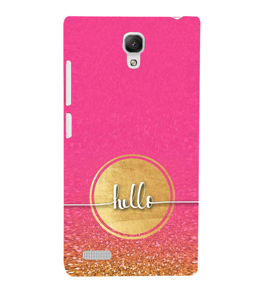 EPICCASE Hello  Back Case Cover for Xiaomi Redmi Note prime
