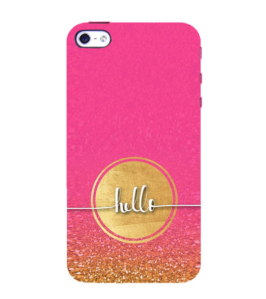 EPICCASE Hello  Back Case Cover for Apple iPhone 5/5s