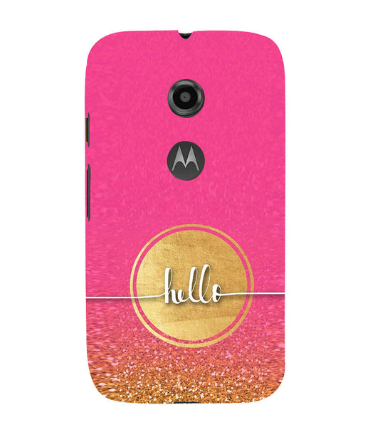 EPICCASE Hello  Back Case Cover for Moto E2