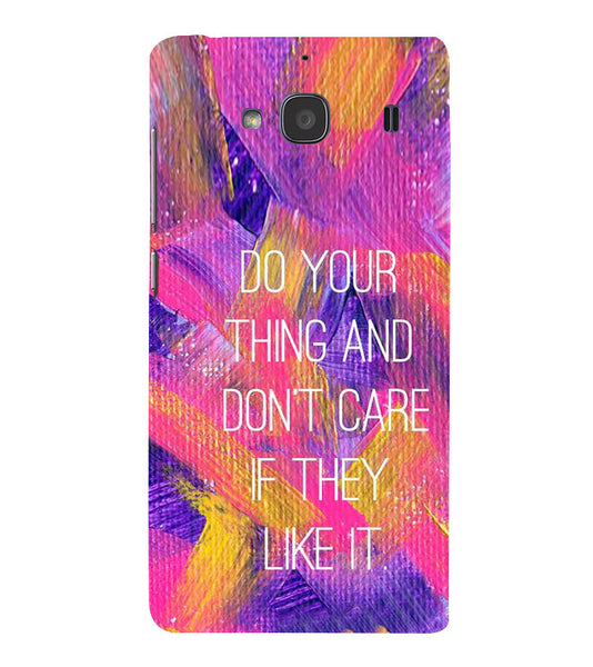 EPICCASE Do your thing Back Case Cover for Xiaomi Redmi 2s