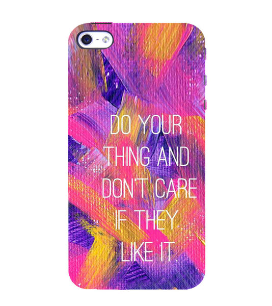 EPICCASE Do your thing Back Case Cover for Apple iPhone 4