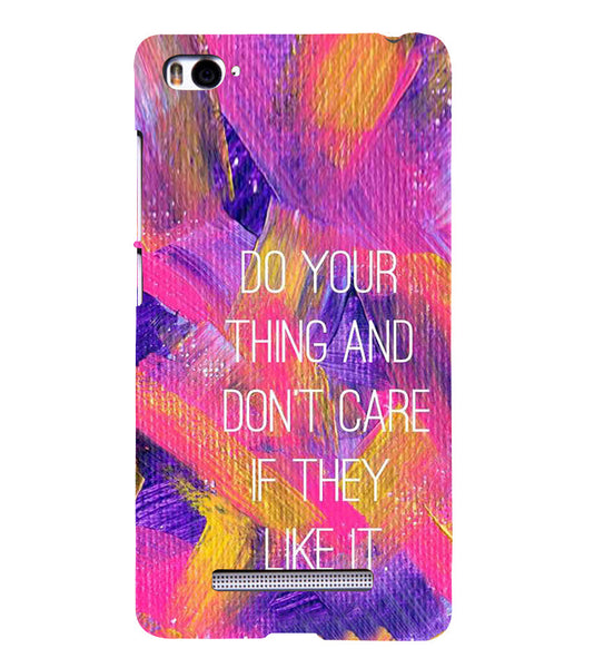 EPICCASE Do your thing Back Case Cover for Xiaomi Redmi Mi4i