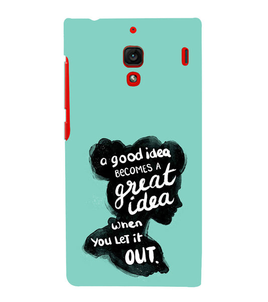 EPICCASE Let it out Back Case Cover for Xiaomi Redmi 1s