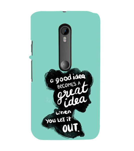 EPICCASE Let it out Back Case Cover for Moto X Style