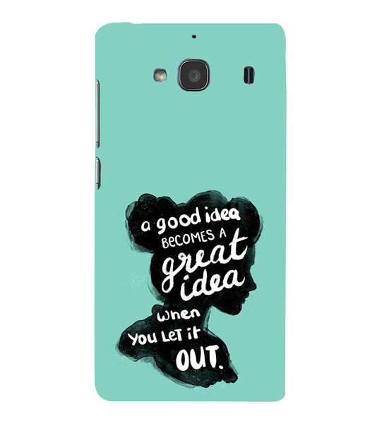 EPICCASE Let it out Back Case Cover for Xiaomi Redmi 2s