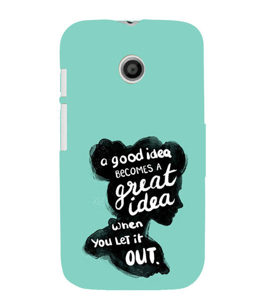 EPICCASE Let it out Back Case Cover for Moto E