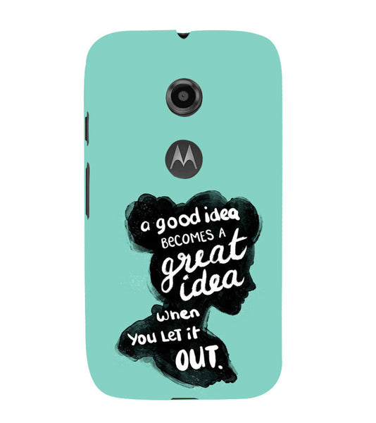 EPICCASE Let it out Back Case Cover for Moto E2