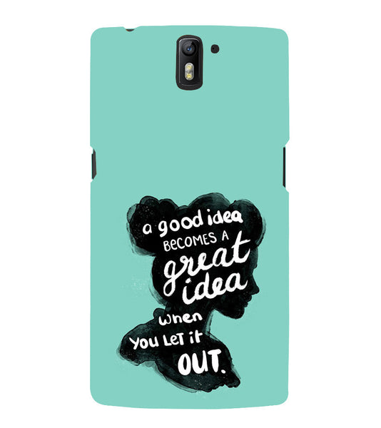 EPICCASE Let it out Back Case Cover for Oneplus One