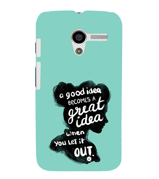 EPICCASE Let it out Back Case Cover for Moto X
