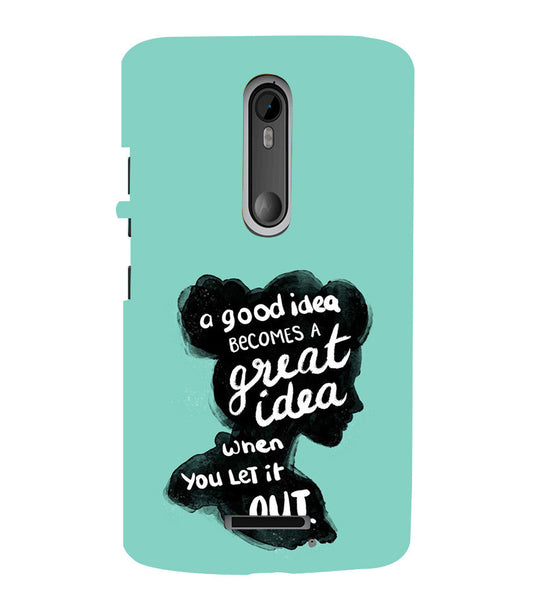EPICCASE Let it out Back Case Cover for Moto X3