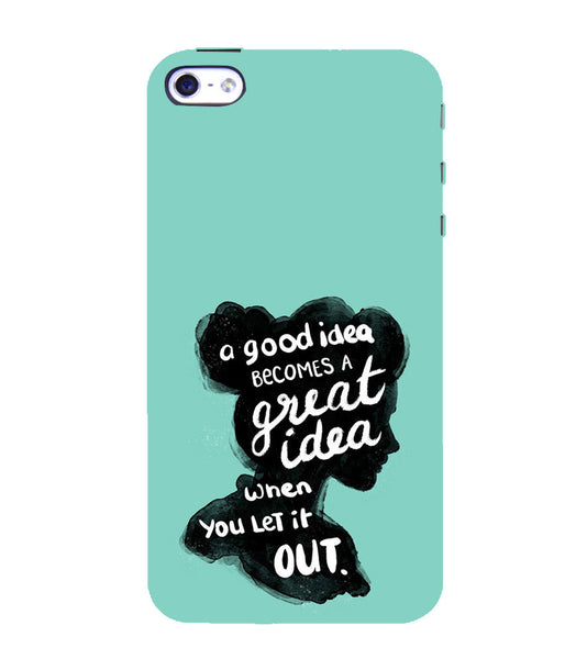EPICCASE Let it out Back Case Cover for Apple iPhone 5/5s