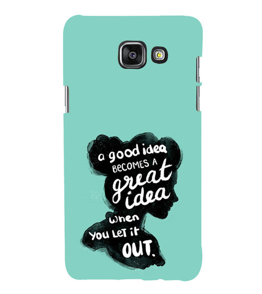 EPICCASE Let it out Back Case Cover for Samsung A7 2016