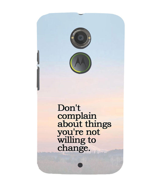 EPICCASE Dont complain Back Case Cover for Moto X2