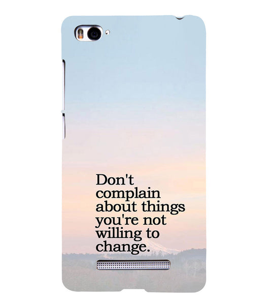 EPICCASE Dont complain Back Case Cover for Xiaomi Redmi Mi4i