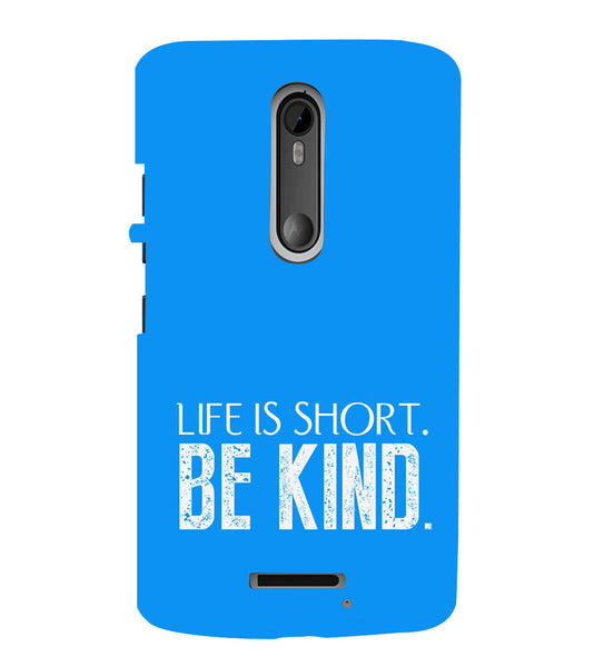 EPICCASE Be kind Back Case Cover for Moto X3