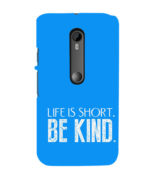 EPICCASE Be kind Back Case Cover for Moto X Force