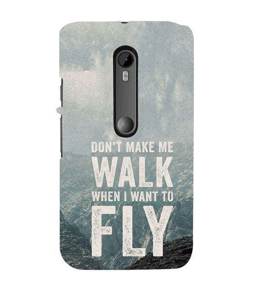 EPICCASE Make me fly Back Case Cover for Moto X Style