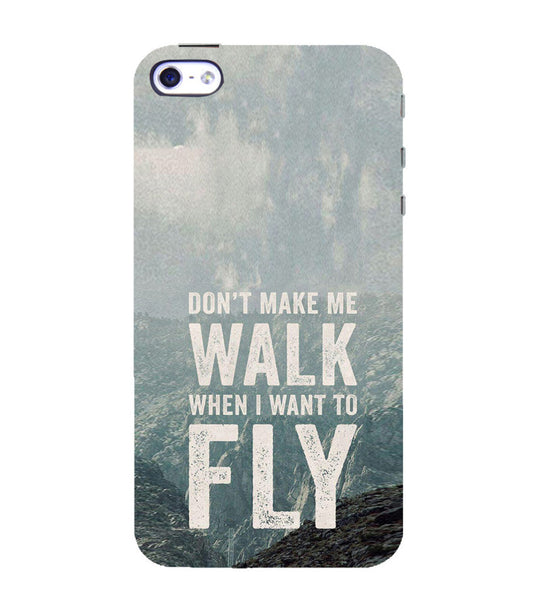 EPICCASE Make me fly Back Case Cover for Apple iPhone 4