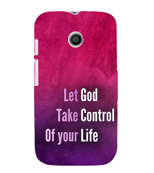 EPICCASE Believe in god Back Case Cover for Moto E