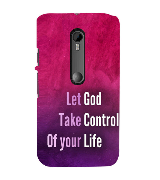 EPICCASE Believe in god Back Case Cover for Moto X Force