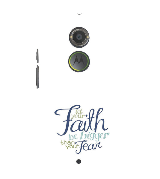 EPICCASE Faith over fear Back Case Cover for Moto X2