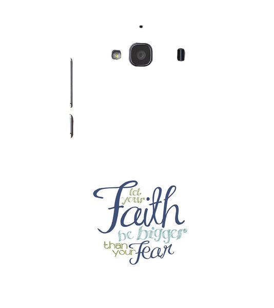EPICCASE Faith over fear Back Case Cover for Xiaomi Redmi 2s