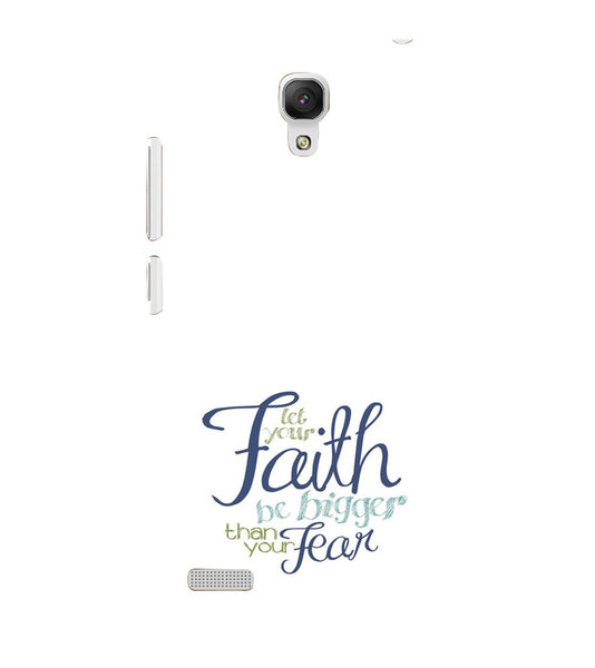 EPICCASE Faith over fear Back Case Cover for Xiaomi Redmi Note prime