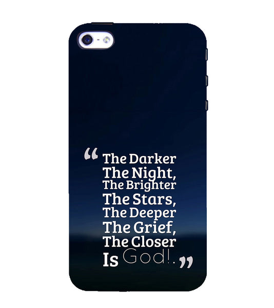 EPICCASE Closer the god Back Case Cover for Apple iPhone 4