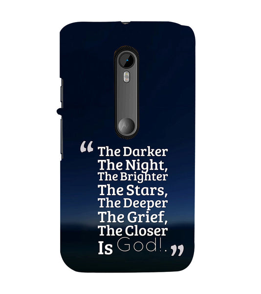 EPICCASE Closer the god Back Case Cover for Moto X Style