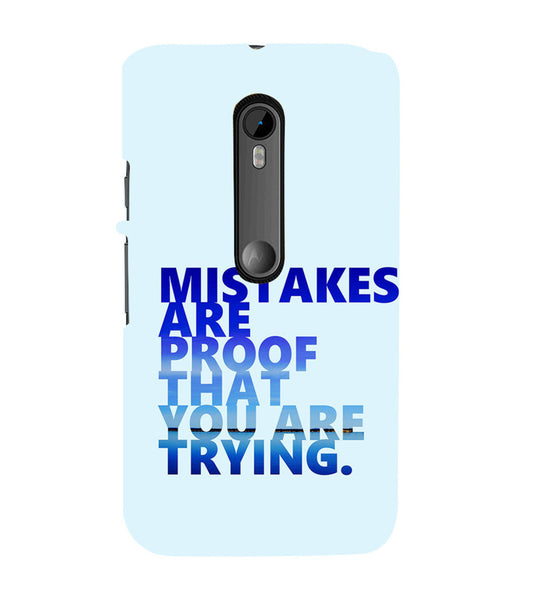EPICCASE Keep  trying Back Case Cover for Moto X Play