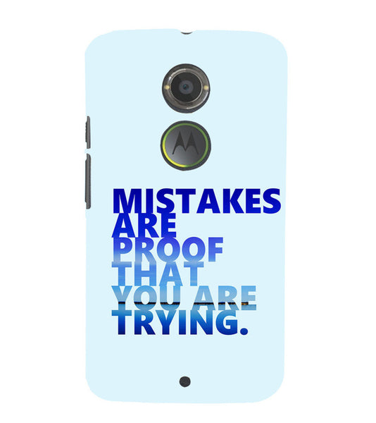 EPICCASE Keep  trying Back Case Cover for Moto X2