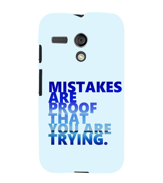 EPICCASE Keep  trying Back Case Cover for Moto G