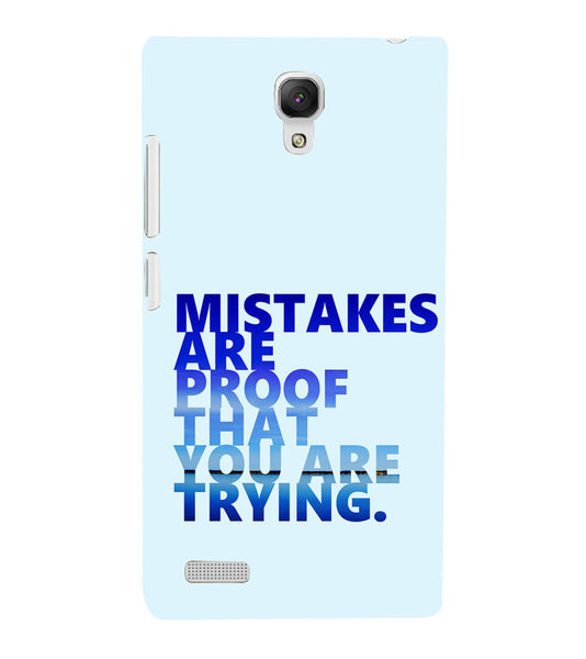 EPICCASE Keep  trying Back Case Cover for Xiaomi Redmi Note