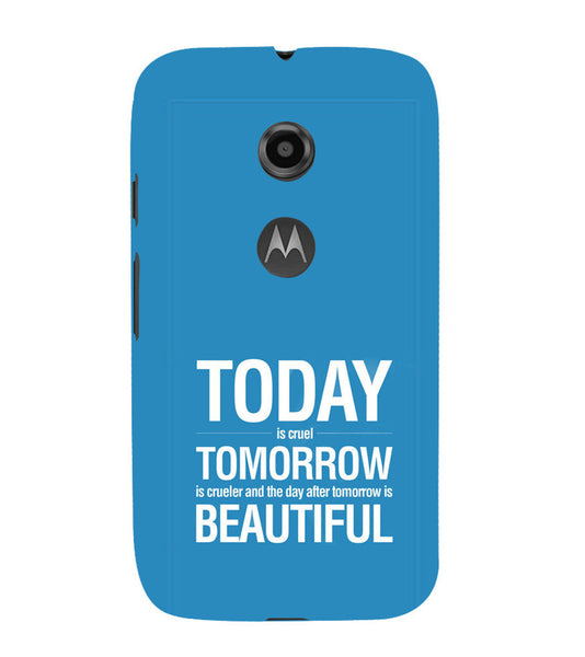 EPICCASE Future is success Back Case Cover for Moto E2