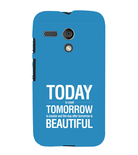 EPICCASE Future is success Back Case Cover for Moto G