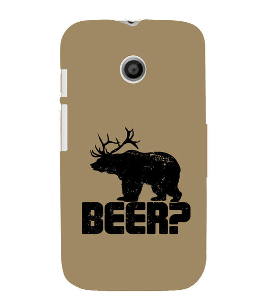 EPICCASE Drunken fun Back Case Cover for Moto E