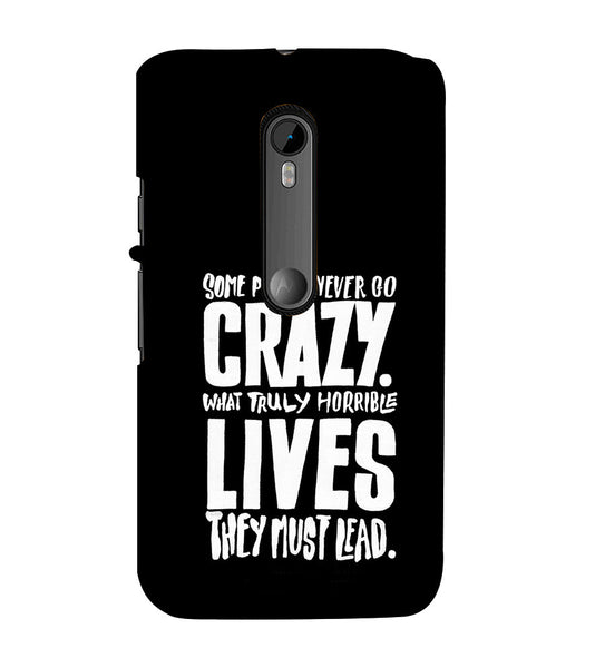 EPICCASE Do crazy Back Case Cover for Moto X Play