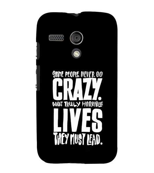EPICCASE Do crazy Back Case Cover for Moto G