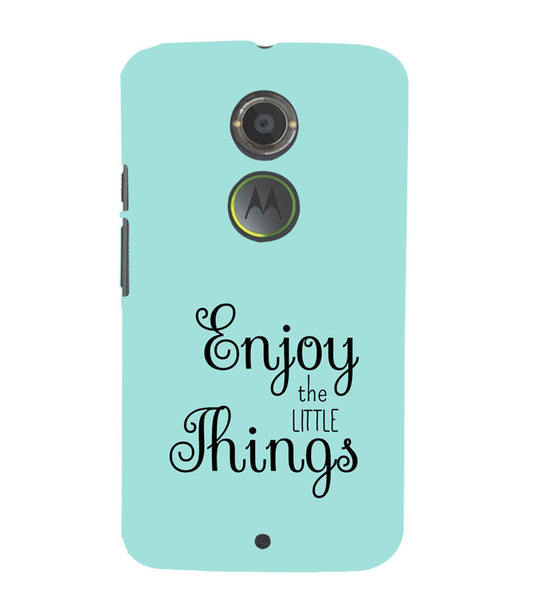 EPICCASE Enjoy the little things  Back Case Cover for Moto X2