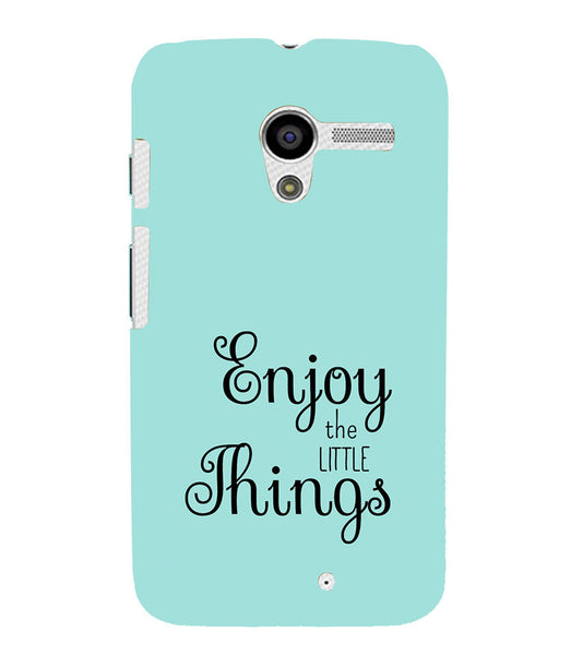 EPICCASE Enjoy the little things  Back Case Cover for Moto X
