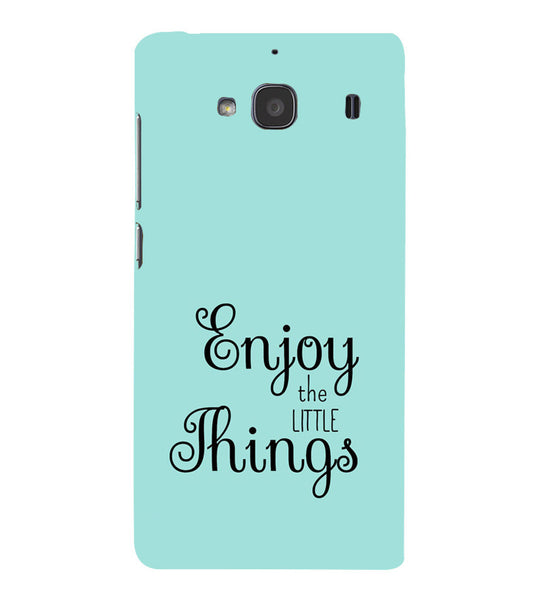 EPICCASE Enjoy the little things  Back Case Cover for Xiaomi Redmi 2s
