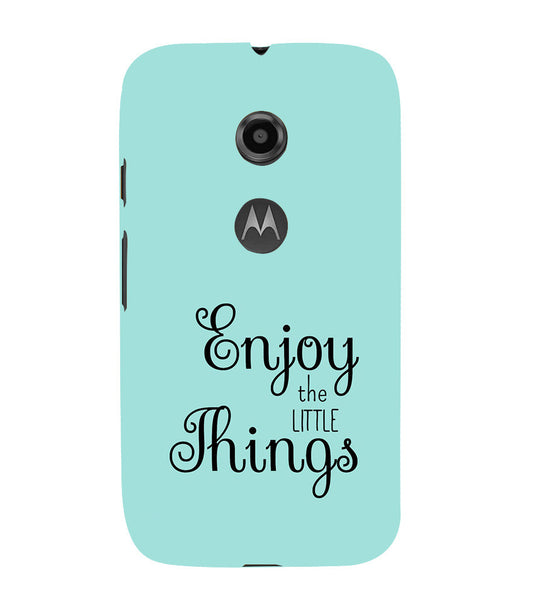 EPICCASE Enjoy the little things  Back Case Cover for Moto E2