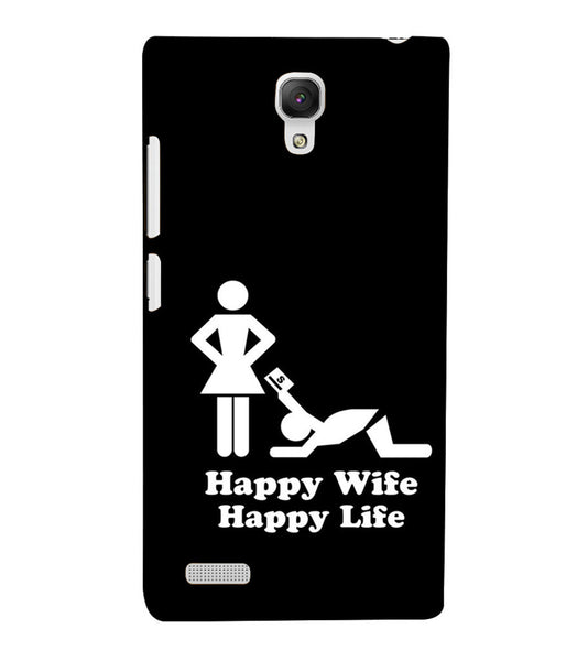 EPICCASE Happy wife  Back Case Cover for Xiaomi Redmi Note