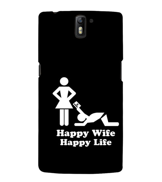 EPICCASE Happy wife  Back Case Cover for Oneplus One