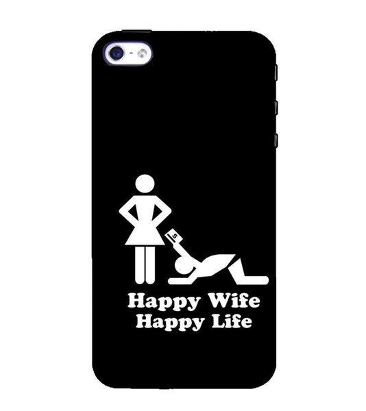 EPICCASE Happy wife  Back Case Cover for Apple iPhone 4