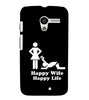 EPICCASE Happy wife  Back Case Cover for Moto X